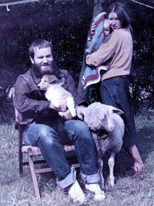 Familie mit Schaf