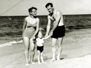 mit den Eltern an der Ostsee