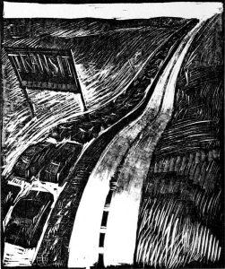 58 - 9. November 1989 Autobahn als Einbahnstrasse