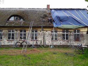 aufsetzen der Dachreiter